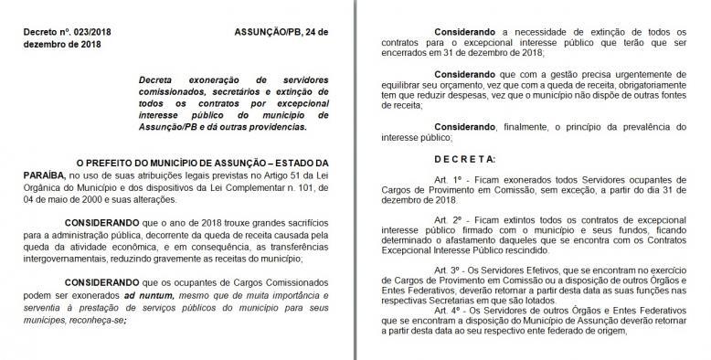 Decreto do Poder Executivo