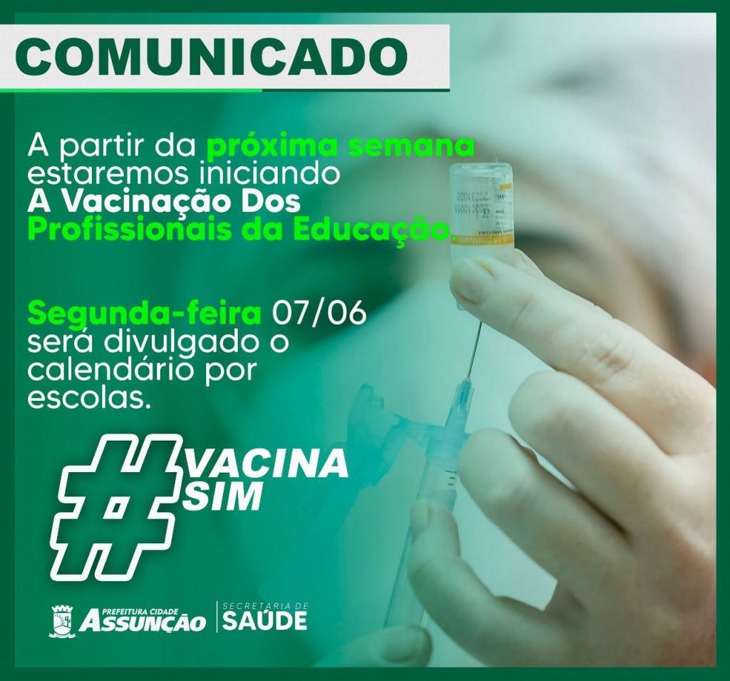 A Prefeitura de Assunção iniciará na próxima semana a imunização de professores e servidores da educação das escolas