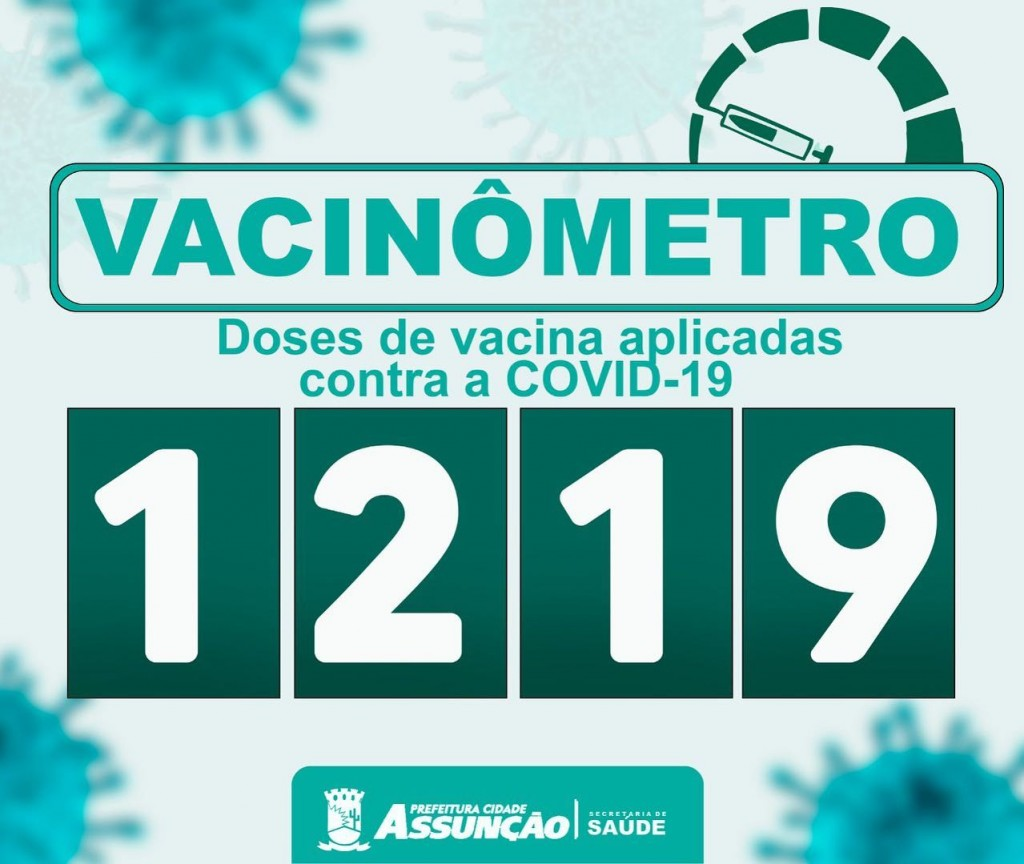 A Prefeitura Municipal de Assunção chegou à marca de 1.219 doses de vacina contra a covid-19 aplicadas.