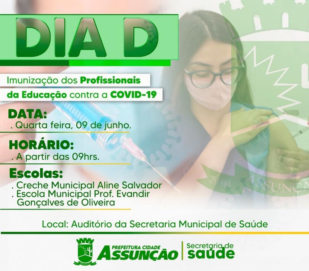 A Prefeitura de Assunção iniciará na próxima quarta-feira (09) a imunização de professores e servidores da educação das