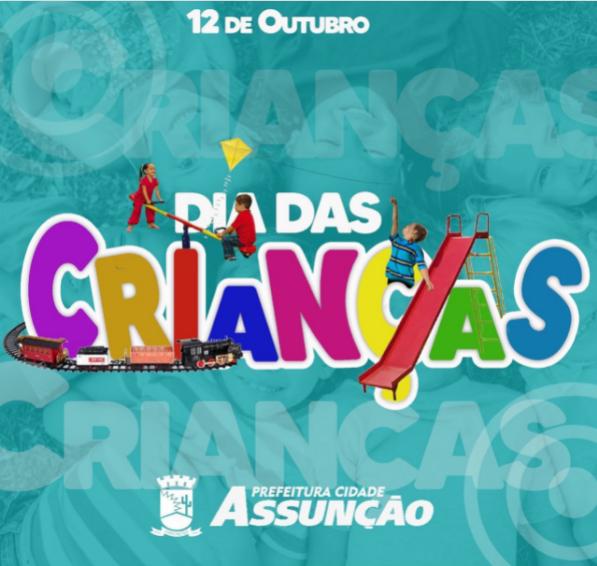 Prefeitura de Assunção realizará festa de Dia das Crianças nessa sexta