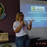 Secretaria de Saúde realiza audiência púbica para prestação de contas em Assunção