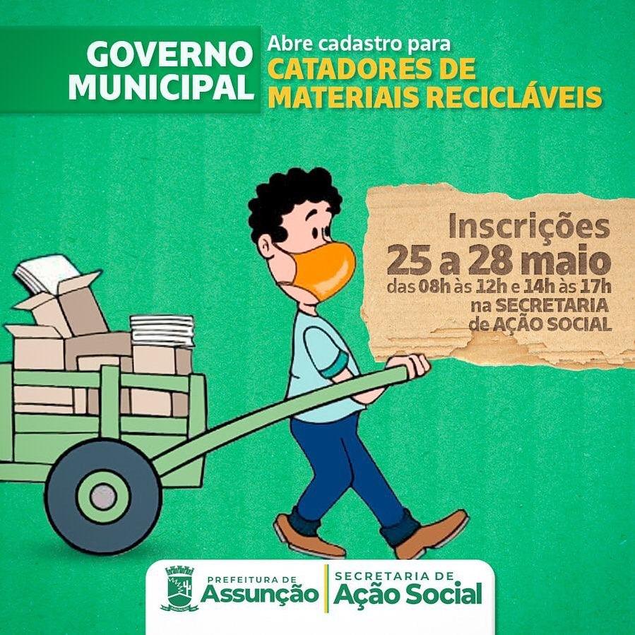 Governo Municipal Abre Cadastro para Catadores de Materiais Recicláveis