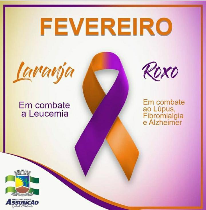Fevereiro Roxo e Laranja: Secretaria de Saúde realiza campanha de combate a Leucemia e ao Lúpus